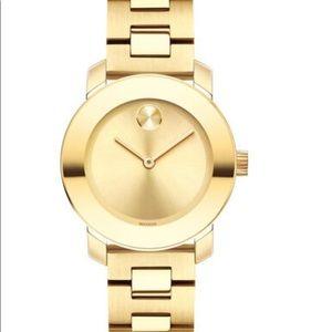 NWT.  Movado Bold Gold Woman Watch